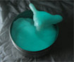 Glow in the dark blue putty
