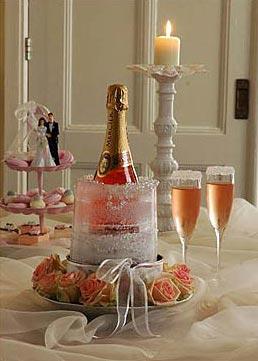 Seau à champagne en glaçon