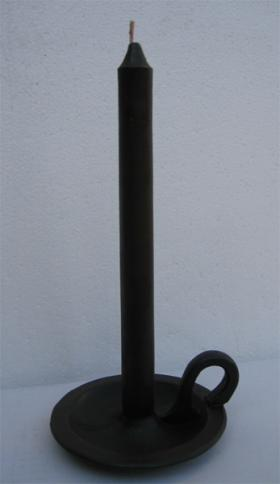 Wax candlestick