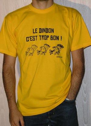 T-shirt Homme - Jaune gold - XXL