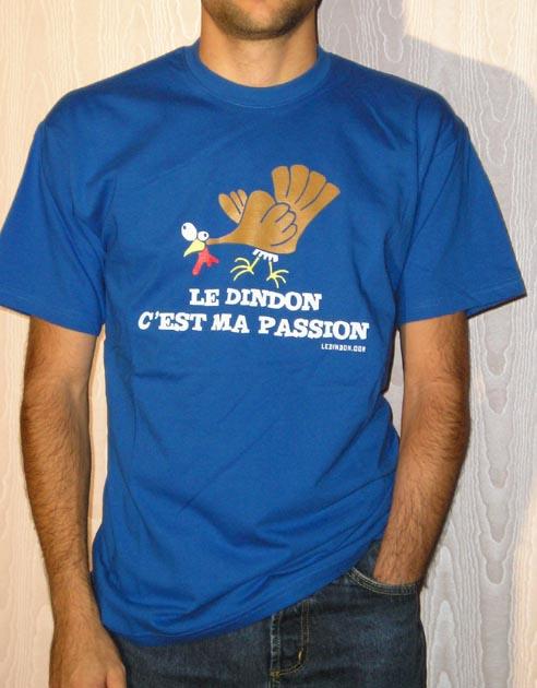 Ledindon Com men's t-shirt - royal blue - xxl   gadgets & fun   le dindon