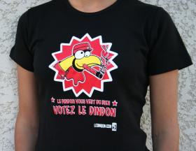 Women's T-shirt 'Votez dindon' - S
