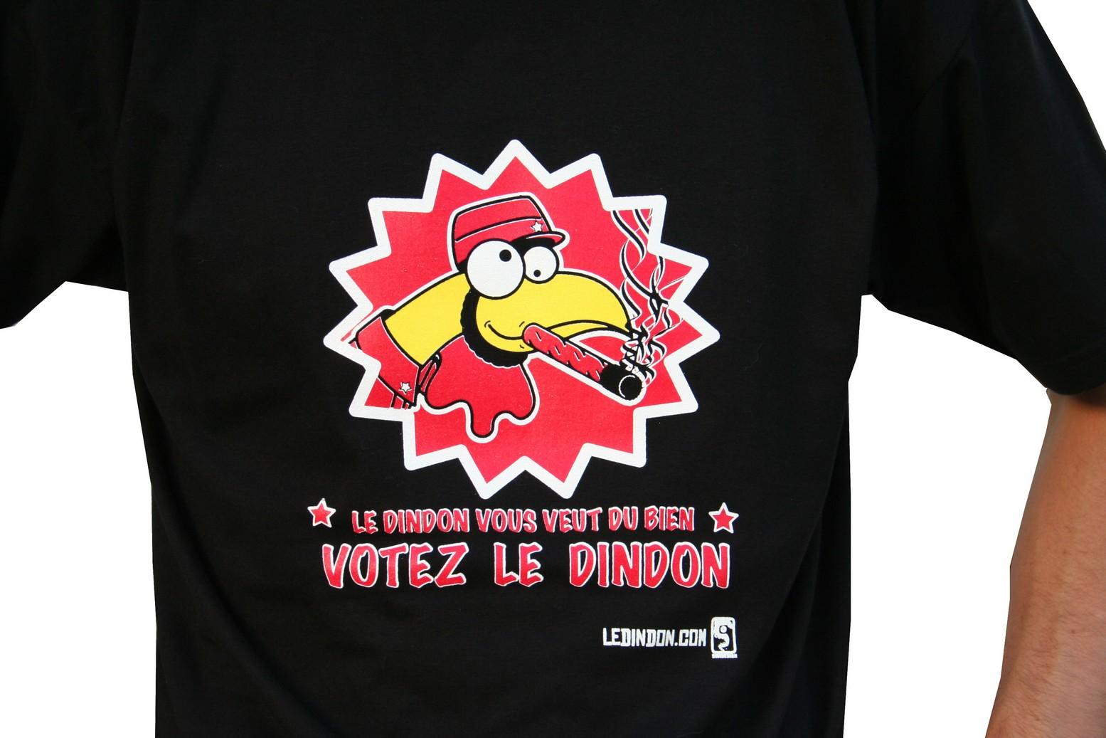 Ledindon Com men t-shirt 'votez dindon' - m   gadgets & fun   le dindon