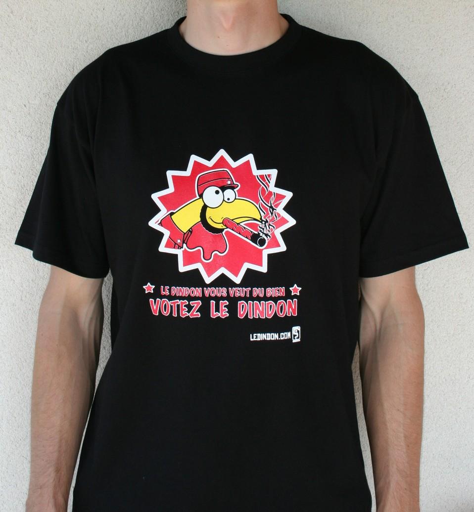 t shirt homme 39 votez dindon 39 l gadgets fun le dindon. Black Bedroom Furniture Sets. Home Design Ideas