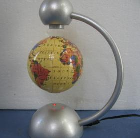 Floating globe - metal