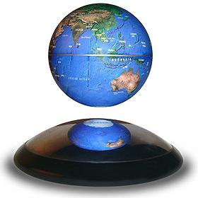 Mini globe en lévitation