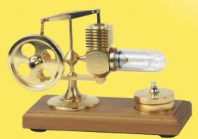 Stirling Engine - Gold plated