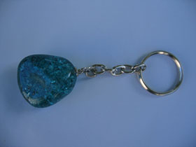 Green Quartz keyring