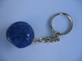 Porte-clé Quartz bleu