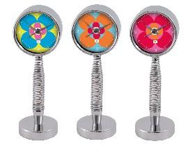 Spring-mounted clock
