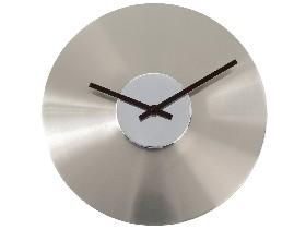 Horloge Disque chromé
