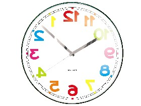 Counterclockwise clock (colours)