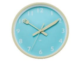 Horloge Assiette bleue