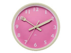 Clock Pink plate