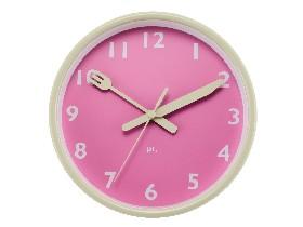 Horloge Assiette rose