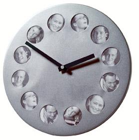 Horloge photos métal argenté