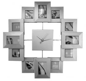 Clock Photos (silver, 40 cm)