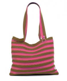 Zip-It Bag (chocolate & pink)