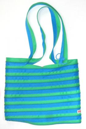 Zip-It Bag - Turquoise & Green