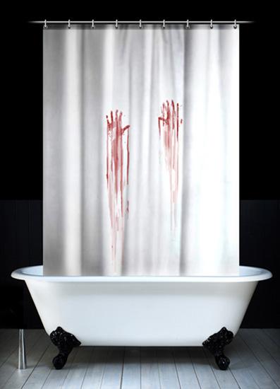 rideau de douche meurtre design le dindon. Black Bedroom Furniture Sets. Home Design Ideas