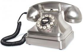 Téléphone rétro chromé