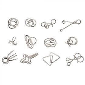 12 Classic Wire Puzzles