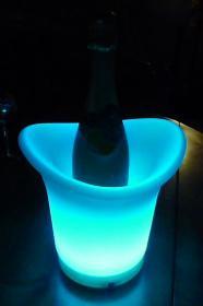 Seau à champagne illuminé