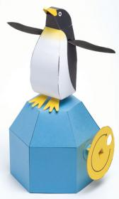 Mechanical paper penguin