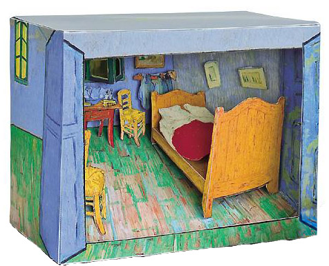 mon van gogh en carton jeux peluches le dindon. Black Bedroom Furniture Sets. Home Design Ideas