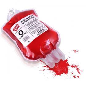 Gel douche poche de sang