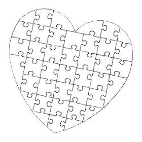 Heart blank puzzle