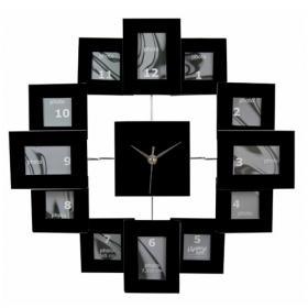 Horloge Photos (noire, 40 cm)