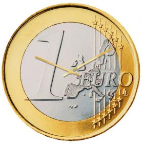 1 Euro Clock