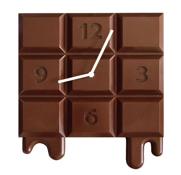 Chocolate clock home decoration le dindon for Decoration 3 chocolat