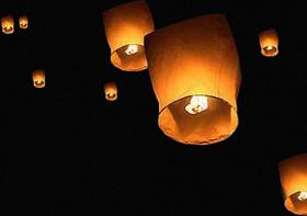 5 grandes lanternes volantes