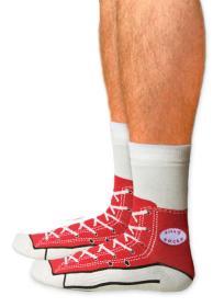 Chaussettes Converse (rouge)