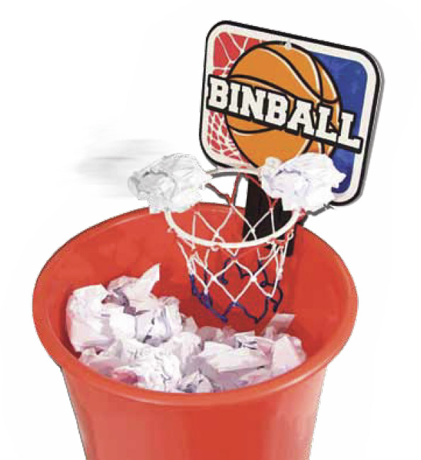 Trash ball gadgets fun le dindon - Panier de basket pour bureau ...