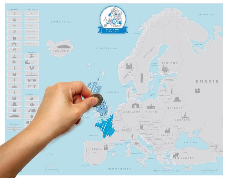 Carte Deurope Avec Zoom.Carte D Europe A Gratter