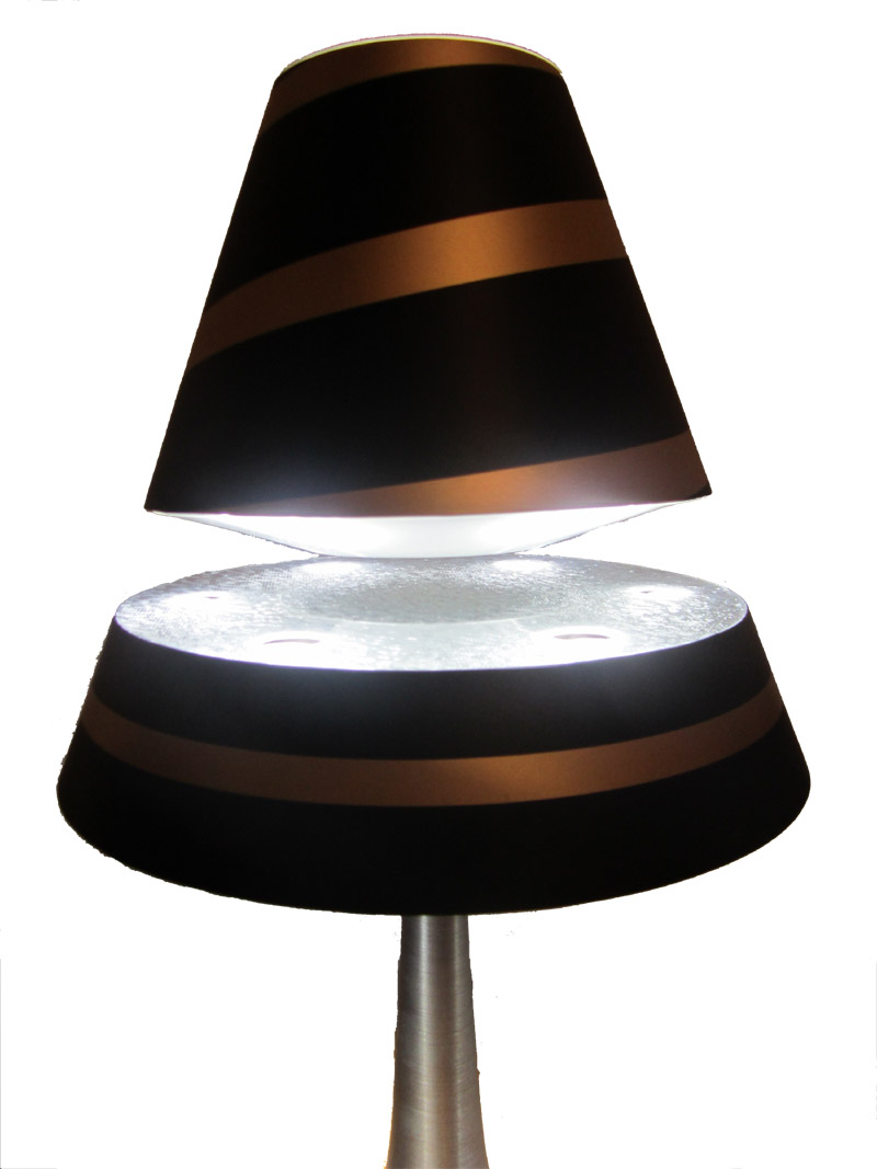Levitating lamp shade best lamp 2017 enrg home decorative lamp levitation table wooden float enlightening levitron geotapseo Image collections