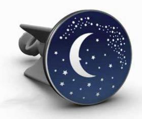 Bouchon de lavabo Lune phosphorescente