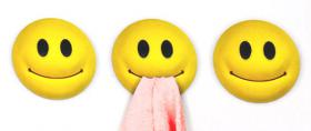 Kitchen cloth hook Smiley (x3)