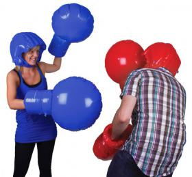 Inflatable boxing kit