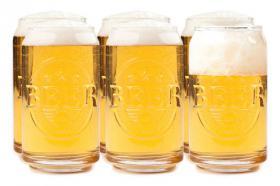 6 verres Canette de bière