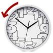 """Horloge à l'envers """"Fantaisie"""""""