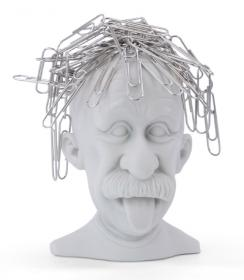 Einstein Paperclip Holder