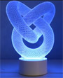 "Lampe Illusion ""Noeud"""