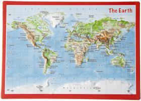 Carte postale en relief Monde