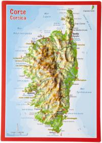 Carte postale en relief Corse