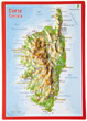 """Carte postale en relief """"Corse"""""""