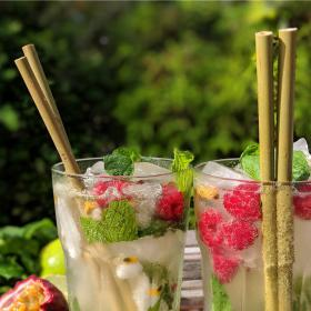 Bamboo Straws (x6)